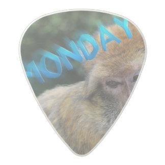 Monkey sad about monday acetal guitar pick