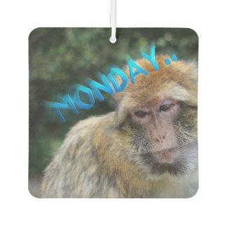 Monkey sad about monday air freshener