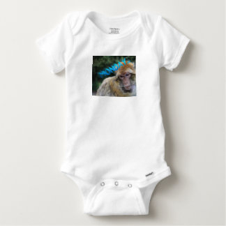 Monkey sad about monday baby onesie