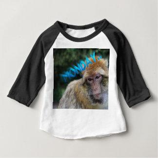 Monkey sad about monday baby T-Shirt