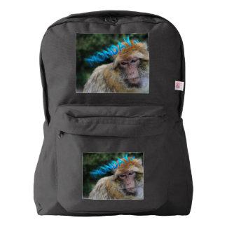 Monkey sad about monday backpack