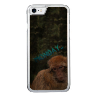 Monkey sad about monday carved iPhone 8/7 case