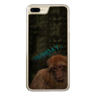 Monkey sad about monday carved iPhone 8 plus/7 plus case