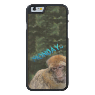 Monkey sad about monday carved® maple iPhone 6 case