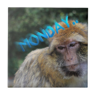 Monkey sad about monday ceramic tiles