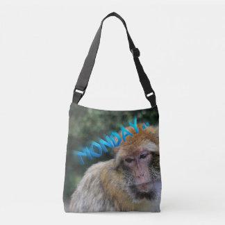 Monkey sad about monday crossbody bag
