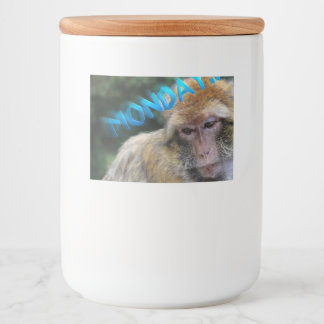 Monkey sad about monday food label