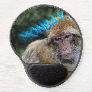 Monkey sad about monday gel mouse pad