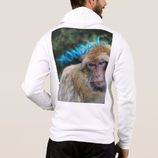 Monkey sad about monday hoodie