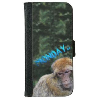 Monkey sad about monday iPhone 6 wallet case