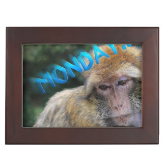 Monkey sad about monday keepsake box