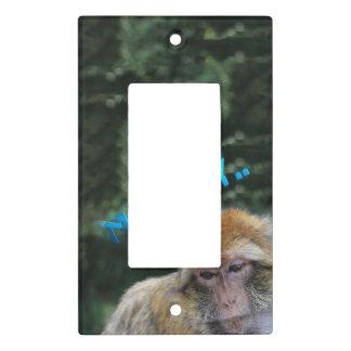 Monkey sad about monday light switch cover
