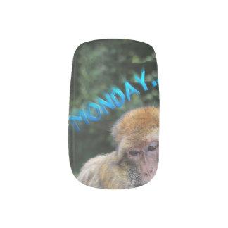 Monkey sad about monday minx nail art