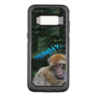 Monkey sad about monday OtterBox commuter samsung galaxy s8 case