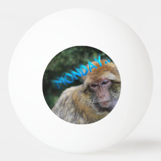 Monkey sad about monday ping pong ball
