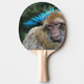 Monkey sad about monday ping pong paddle