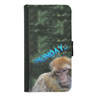 Monkey sad about monday samsung galaxy s5 wallet case