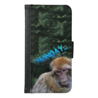 Monkey sad about monday samsung galaxy s6 wallet case