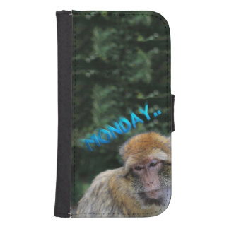 Monkey sad about monday samsung s4 wallet case