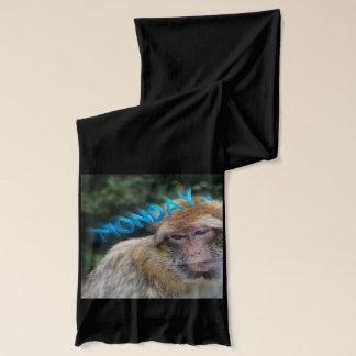 Monkey sad about monday scarf