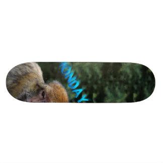 Monkey sad about monday skate deck