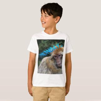 Monkey sad about monday T-Shirt