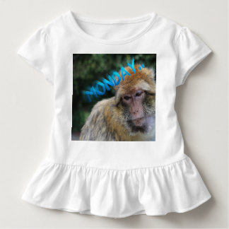 Monkey sad about monday toddler t-shirt