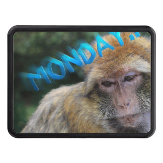 Monkey sad about monday trailer hitch cover
