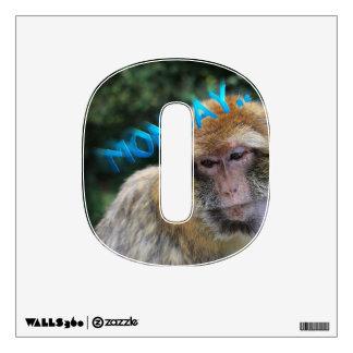 Monkey sad about monday wall decal