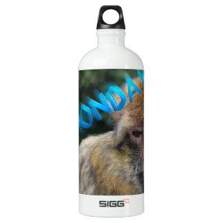 Monkey sad about monday water bottle