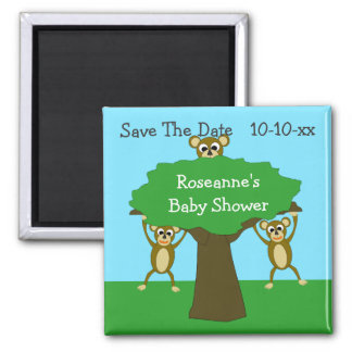 Monkey Save The Date Baby Shower Magnet