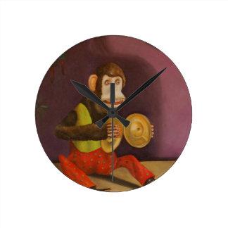 Monkey See Monkey Do Round Clock