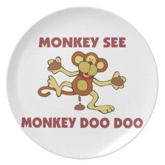 Monkey See Monkey Doo Doo Plate