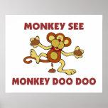 Monkey See Monkey Doo Doo Poster