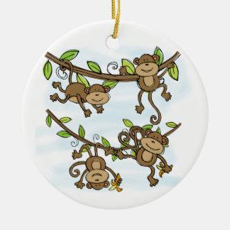 Monkey Shine Ceramic Ornament