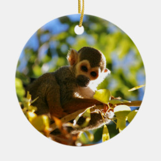 Monkey Shines Ceramic Ornament