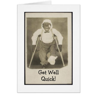 Monkey Shines Get Well Card