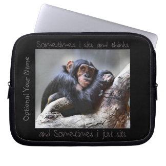 Monkey Sits Laptop Sleeve