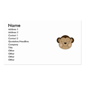 Monkey Sleeping Business Card Templates