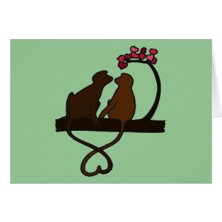 Monkey Smooches Card