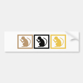 Monkey Squares Bumper Sticker