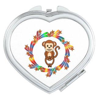 Monkey Stars Compact Mirrors