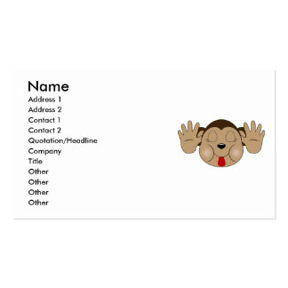 Monkey Sticking Out Tongue Business Card Templates