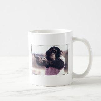 Monkey stickup coffee mug