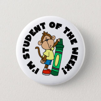 Monkey Student of the Week 2 Inch Round Button