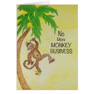 Monkey Swinging from Tree Monkey Business Card