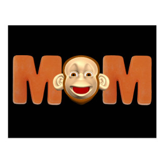 Monkey T-shirts and Gifts For Mom Postcard