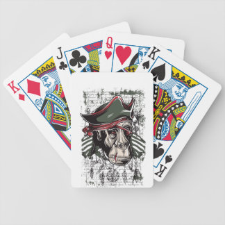 monkey the pirate cute design bicycle playing cards