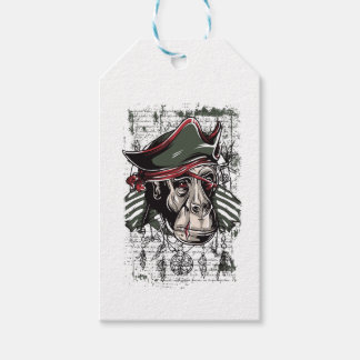 monkey the pirate cute design gift tags
