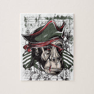 monkey the pirate cute design jigsaw puzzle